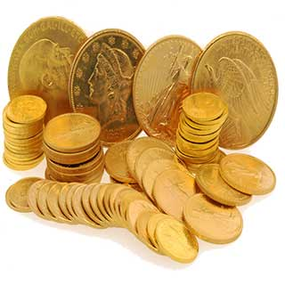 We buy gold American Eagle coins, Old U.S. $20, $10, $5 coins, Canadian Gold maple leaf coins, Gold Krugerrands.